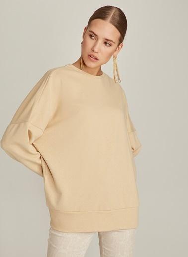 Monamoda Oversize Sweatshirt Bej